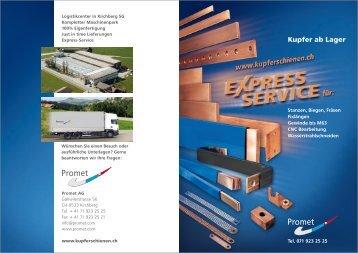 Kupfer ab Lager - Promet AG