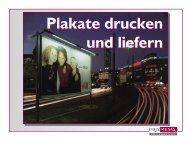 Plakate drucken & liefern - Pro Media Concept GmbH