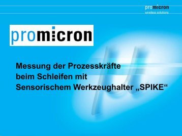 Sensorischer Werkzeughalter SPIKE - pro-micron