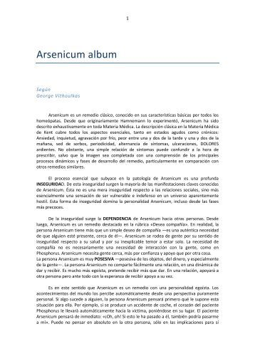 Arsenicum album, según George Vithoulkas