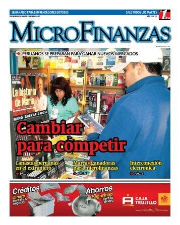 Suplemento Microfinanzas - Status Comunicaciones