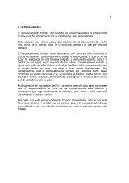 1 1. INTRODUCCIÓN: El desplazamiento forzado en Colombia es ...