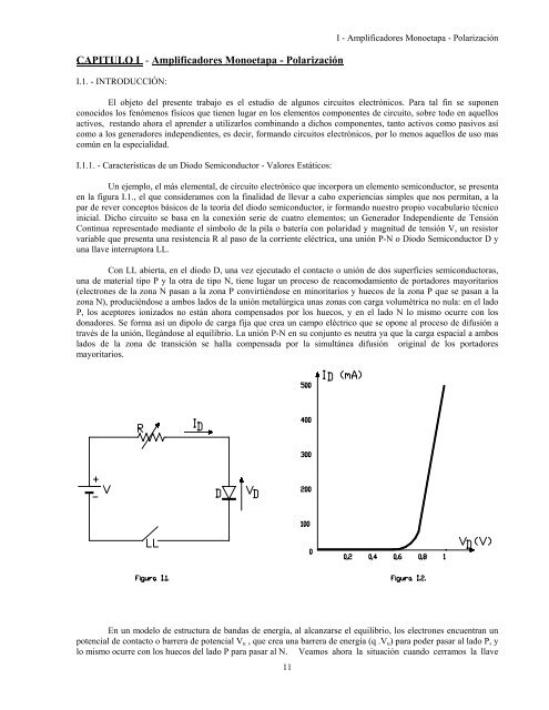 Capitulo I Amplificadores Monoetapa Polarización