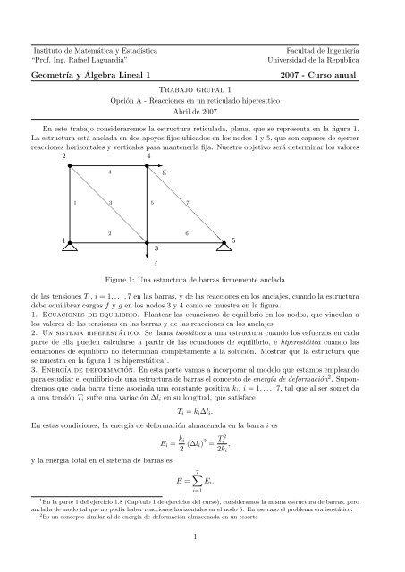 Geometr ıa Y Algebra Lineal 1 2007 Curso Anual Trabajo