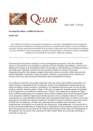 Investigación clínica y conflicto de intereses Jordi Camí Los ...