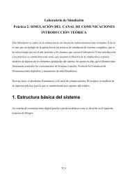 Práctica 2: SIMULACIÓN DEL CANAL DE COMUNICACIONES
