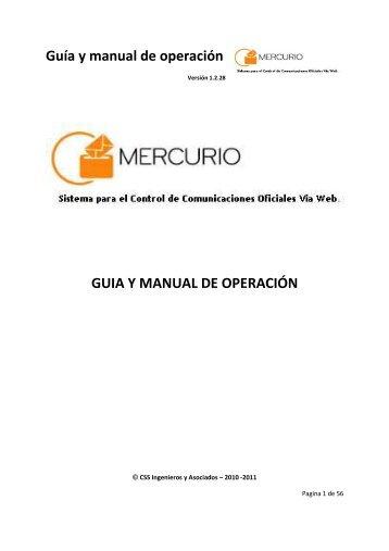 Guía y manual de operación - CSS Ingenieros y Asociados SAS