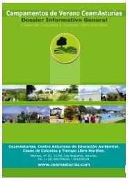 Dossier Informativo - Centro Asturiano de Educación Ambiental