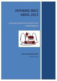 informe meci ABRIL 2013 - Guatavita