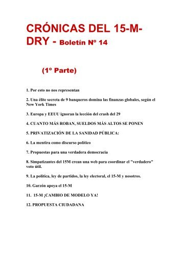 BOLETÍN 14.1 (PDF, para descargar) - Artes Libres