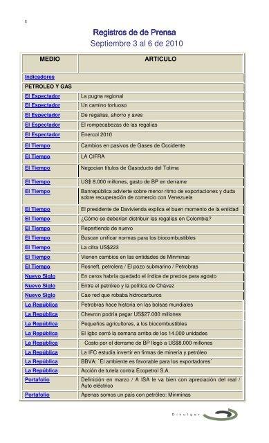 El Tiempo Bogota Ministerio De Minas Y Energia