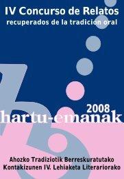 IV Concurso de Relatos - Hartu Emanak