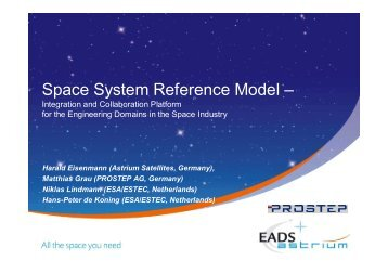 Space System Reference Model – - Prostep AG