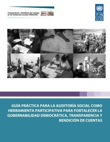 Guia Práctica para la auditoría social como herramienta participativa ...