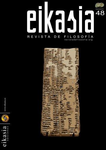 Descargar número completo (4,9 MB) - EIKASIA - Revista de Filosofía