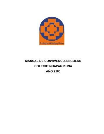 MANUAL DE CONVIVENCIA ESCOLAR COLEGIO QHAPAQ KUNA ...
