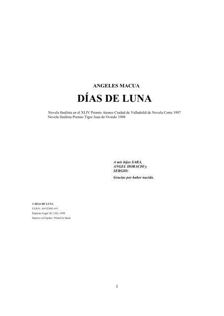 Días De Luna Angeles Macua