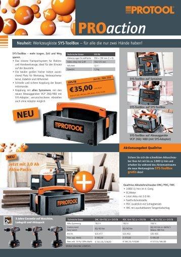 Neuheit: Werkzeugkiste SYS-ToolBox – für alle die nur - Protool GmbH