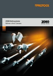 ZOBO-Bohrsysteme Bohren ohne Grenzen. - Protool GmbH