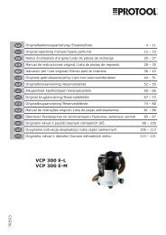 VCP 300 E-L VCP 300 E-M - Protool GmbH