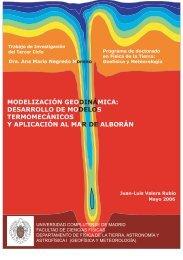 Modelización Geodinámica: Desarrollo de modelos ...
