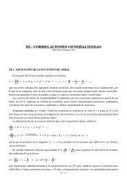 iii.- correlaciones generalizadas