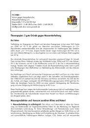 Thesenpapier - Verein gegen tierquälerische Massentierhaltung eV