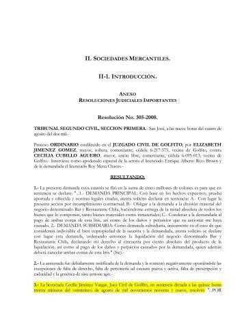 Resolución No. 305-2000. - Ana Lucía Espinoza Blanco