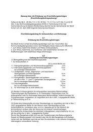 Satzung über die Erhebung von ... - Stadt Achern