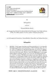Stellungnahme - Verein gegen tierquälerische Massentierhaltung eV