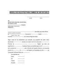 MODELO DE SOLICITUD PARA CAMBIO DE USO DE SUELO