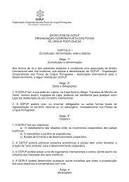 ESTATUTOS DA OCPLP ORGANIZAÇÃO COOPERATIVISTA DOS ...