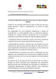 Reunião da Organização Cooperativista dos Povos de ... - cases