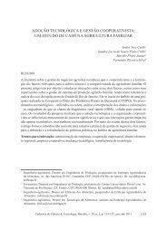 ADOÇÃO TECNOLÓGICA E GESTÃO COOPERATIVISTA: UM ...