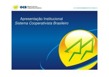 Apresentação Institucional Sistema Cooperativista Brasileiro - OCB