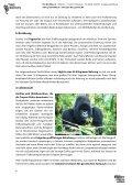 PRO WILDLIFE – SCHULMATERIALIEN GORILLASCHUTZ - Seite 6