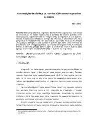 As estratégias da atividade de relações públicas nas cooperativas ...