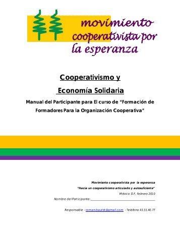 Cooperativismo y Economía Solidaria - Movimiento Nacional por la ...