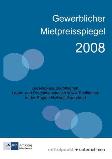 Gewerblicher Mietpreisspiegel - Pro Wohnen Hamburg