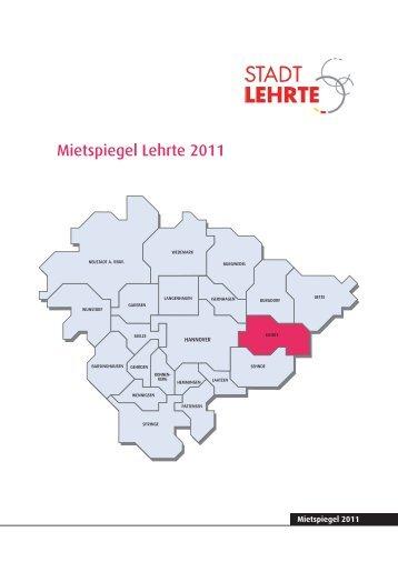 Mietspiegel Stadt Lehrte - Pro Wohnen Hamburg