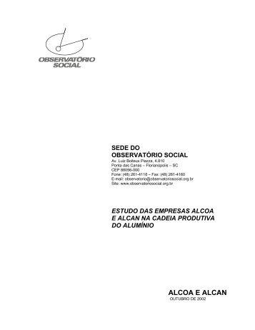 ALCOA E ALCAN - Instituto Observatório Social