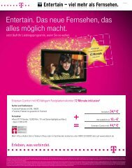 Entertain. Das neue Fernsehen, das alles möglich macht. - PR Partner