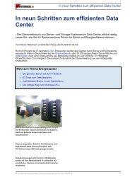In neun Schritten zum effizienten Data Center - PR Partner