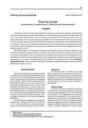 Trauma ocular - Revistas Electrónicas UACh - Universidad Austral ...