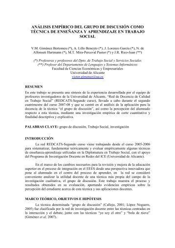 análisis empírico del grupo de discusión como técnica de ...