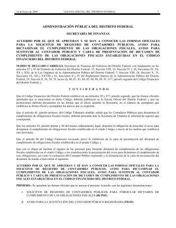 ADMINISTRACIÓN PÚBLICA DEL DISTRITO FEDERAL - IDCOnline