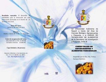 Invitación al curso-taller de antioxidantes y alimentos funcionales