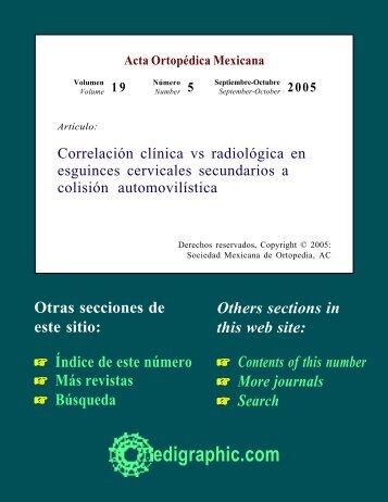 Correlación clínica vs radiológica en esguinces ... - edigraphic.com