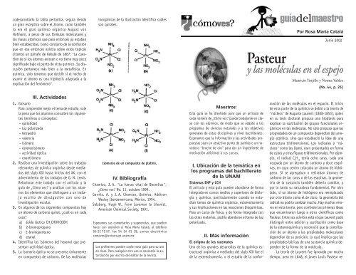No 44 P 26 Pasteur Y Las Moléculas En El Espejo Cómo Ves