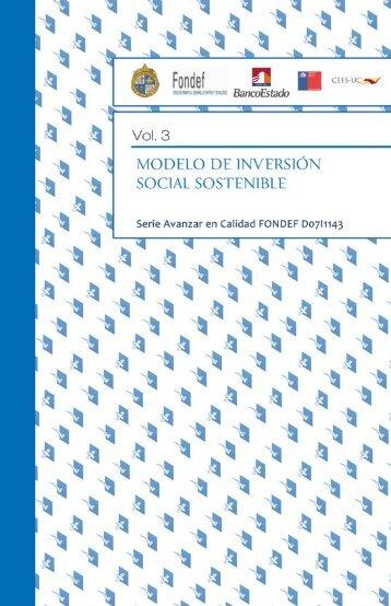 Avanzar en calidad Tomo III MISSE - Agencia de Calidad Social UC ...